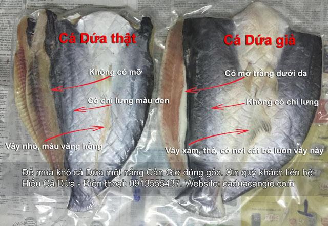 mua khô cá Dứa cẩn thận hàng giả